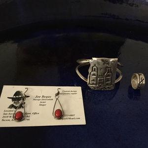 Navajo Silver Jewelry Set